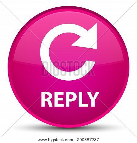 Reply (rotate Arrow Icon) Special Pink Round Button