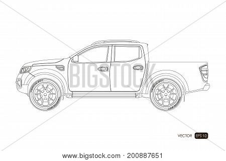 Blueprint suv contour drawing car vector photo bigstock blueprint of suv contour drawing of car on a white background side view of malvernweather Image collections