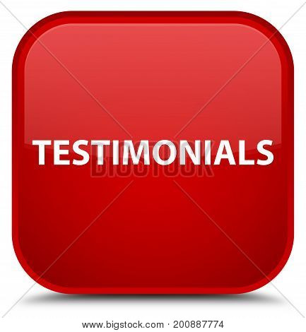 Testimonials Special Red Square Button