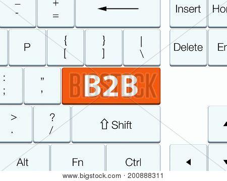 B2B Orange Keyboard Button