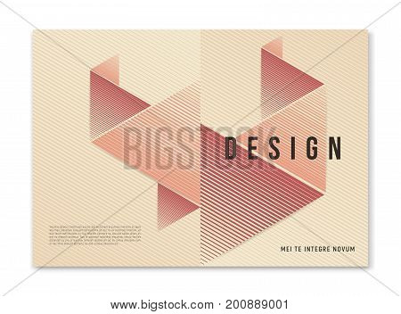 Modern abstract geometric a4 size cover design for brochure magazine flyer report catalog. Vector illustraion
