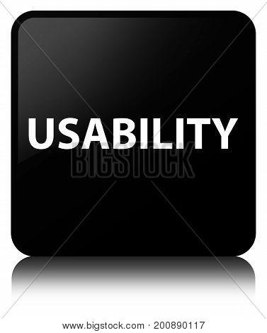 Usability Black Square Button