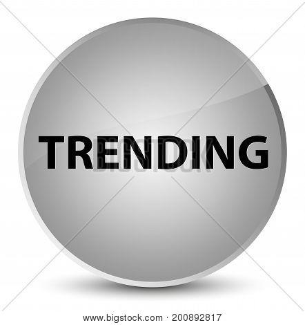 Trending Elegant White Round Button