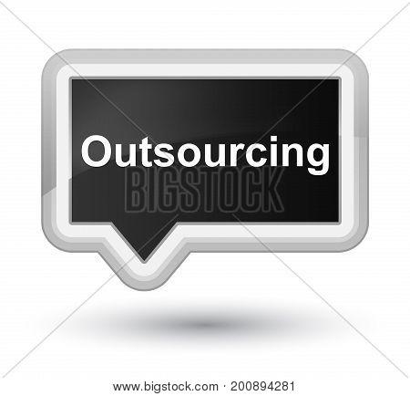 Outsourcing Prime Black Banner Button