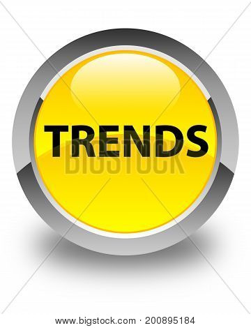 Trends Glossy Yellow Round Button