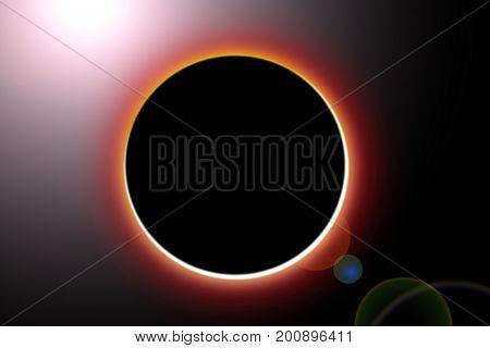 Sun eclipse of  illumination design background .