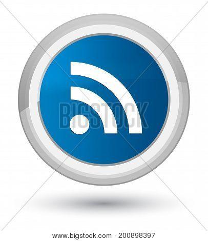 Rss Icon Prime Blue Round Button