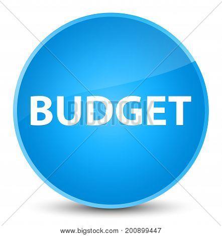 Budget Elegant Cyan Blue Round Button