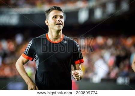 VALENCIA, SPAIN - AUGUST 18: Main Referee Jesus Gil Manzano during Spanish La Liga match between Valencia CF and Las Palmas UD at Mestalla Stadium on August 18, 2017 in Valencia, Spain