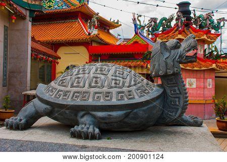 Monument Cerrahi Tua Pek Kong Temple The Beautiful Chinese Temple Of The Sibu City's Of Sarawak, Mal