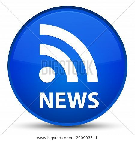 News (rss Icon) Special Blue Round Button