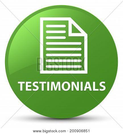 Testimonials (page Icon) Soft Green Round Button