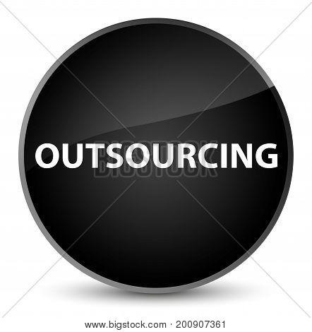 Outsourcing Elegant Black Round Button