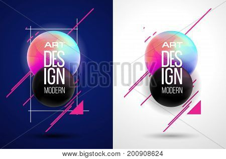 stylish vector illustration. frame design in the style of modern kitsch Memphis. bright hipsters graphic Party clubs, t-shirt designs, posters, brochures and flyers
