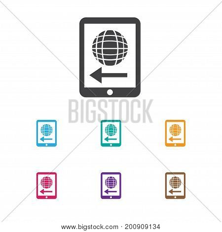 Vector Illustration Of Financial Symbol On Worldwide Icon