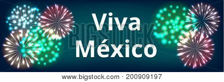 Viva Mexico. Web banner for Mexican Independence Day