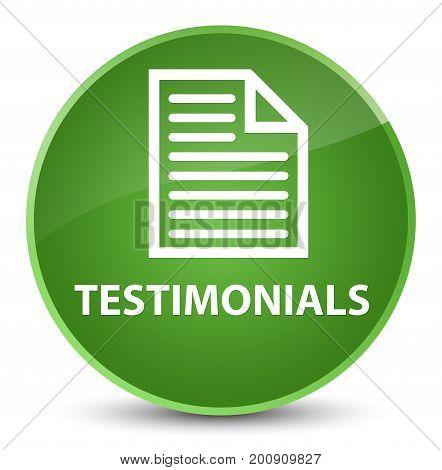 Testimonials (page Icon) Elegant Soft Green Round Button