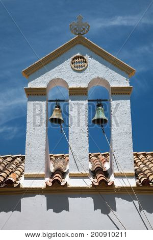 Bell tower in Kythira, Greece.