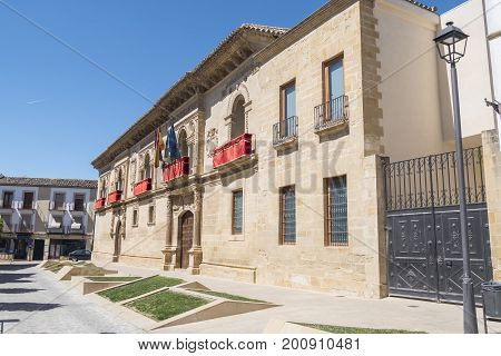 Old justice house and jail now City Hall Baeza Spain