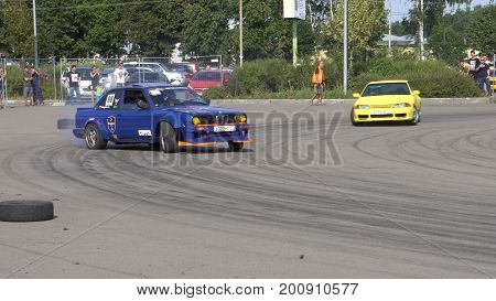 Moscow, Russia - August 19, 2017 : All- Russian annual festival of cars, competition drifting