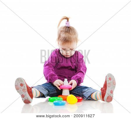 Girl Playing Pyramid