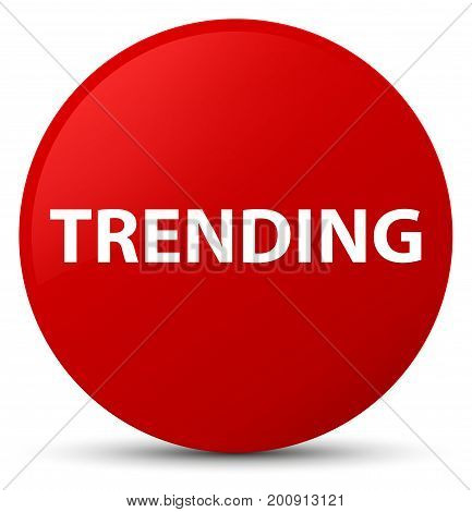Trending Red Round Button
