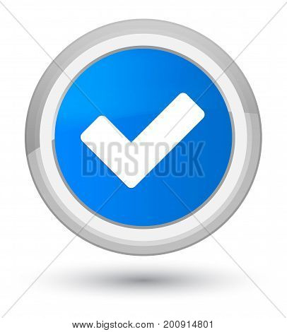 Validate Icon Prime Cyan Blue Round Button