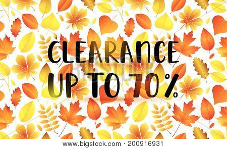 Clearance Up To 70% Sale Banner