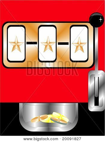 Illustration of  a generic Slot machine..