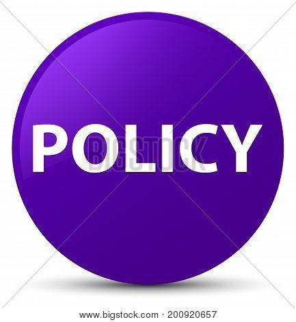 Policy Purple Round Button
