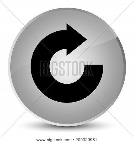 Reply Arrow Icon Elegant White Round Button