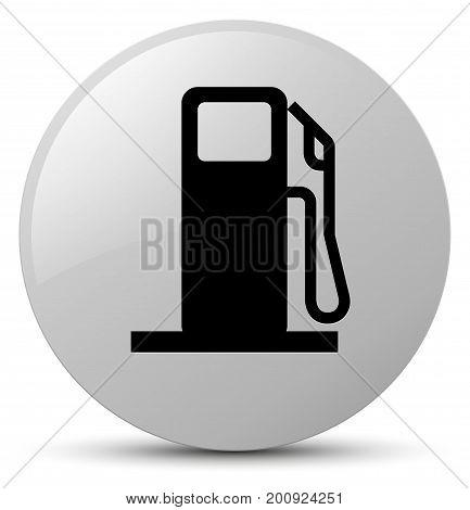 Fuel Dispenser Icon White Round Button