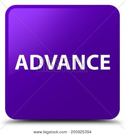 Advance Purple Square Button