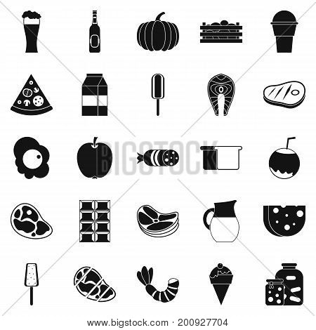 Seed icons set. Simple set of 25 seed vector icons for web isolated on white background