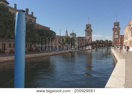 Military Arsenal Entry July 21 2017 Venice Italy concept of history and art poster