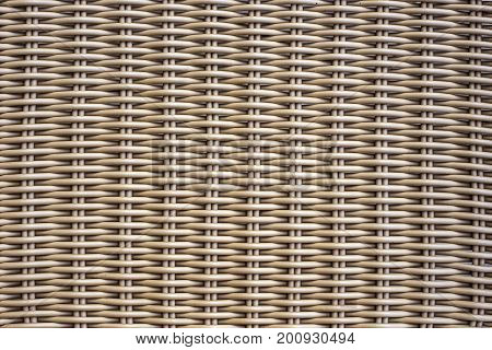 Picture of rattan wickerwork texture. Close up