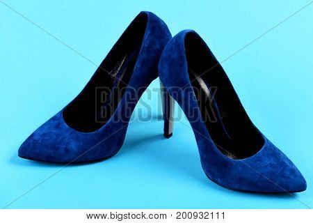 Elegant Red Female Formal Footwear, Close Up.