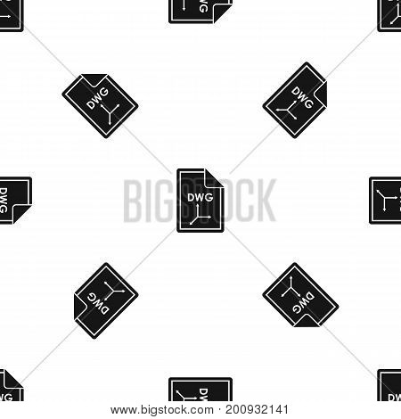 File DWG pattern repeat seamless in black color for any design. Vector geometric illustration