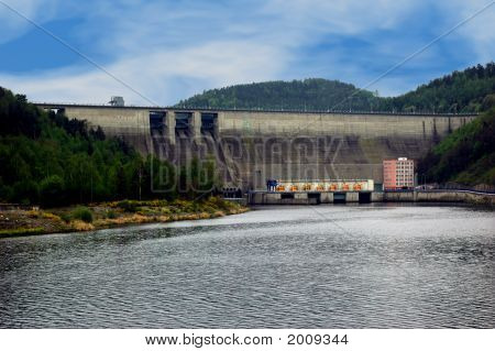 Hydro Dam In The Czech Republic