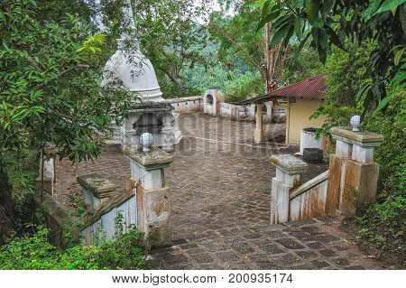 Ancient abandoned temple in the jungle of Srilanka
