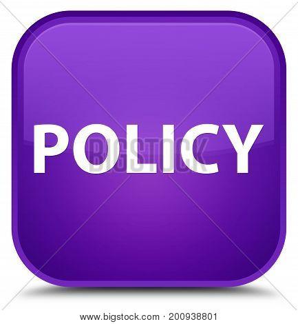 Policy Special Purple Square Button