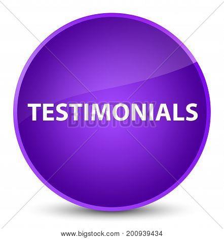 Testimonials Elegant Purple Round Button