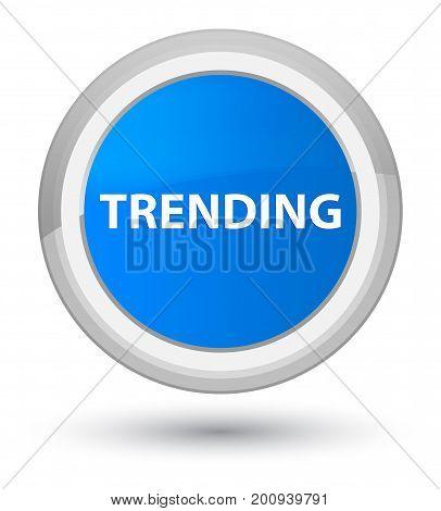 Trending Prime Cyan Blue Round Button