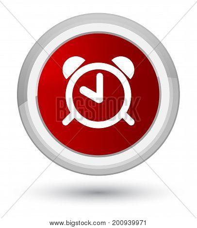 Alarm Clock Icon Prime Red Round Button