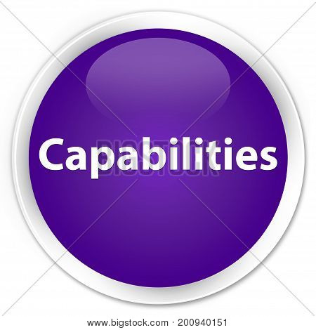 Capabilities Premium Purple Round Button