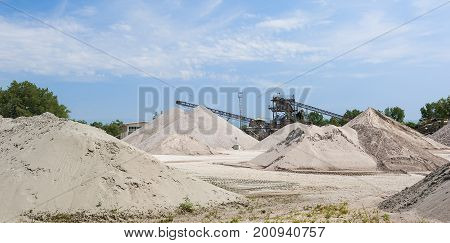 Extraction Gravel. Gravel Quarry. Construction Industry
