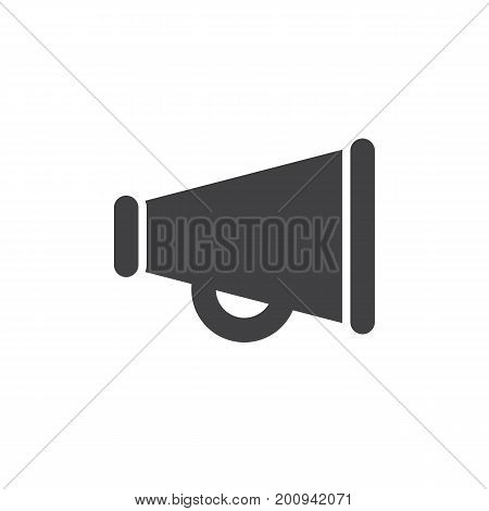 Bullhorn icon vector, filled flat sign, solid pictogram isolated on white. Loudspeaker symbol, logo illustration. Pixel perfect vector graphics