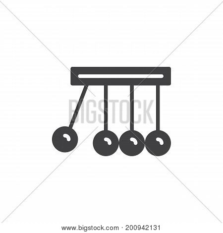Physics icon vector, filled flat sign, solid pictogram isolated on white. Newton's cradle symbol, logo illustration. Pixel perfect vector graphics