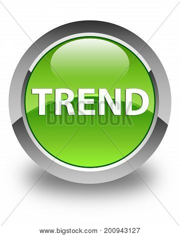 Trend Glossy Green Round Button