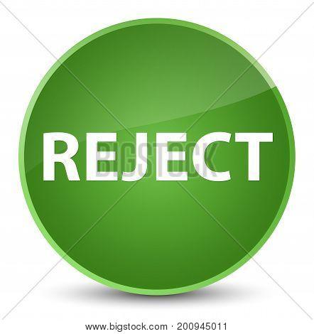 Reject Elegant Soft Green Round Button
